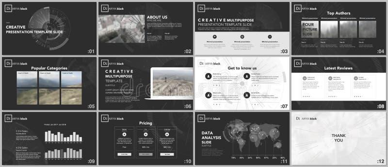 最小的介绍模板 在白色背景的技术设计 未来派技术圈子元素 小册子盖子设计 库存例证