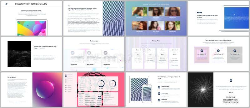 最小的介绍,股份单模板有充满活力的五颜六色的抽象梯度背景 小册子盖子传染媒介 向量例证