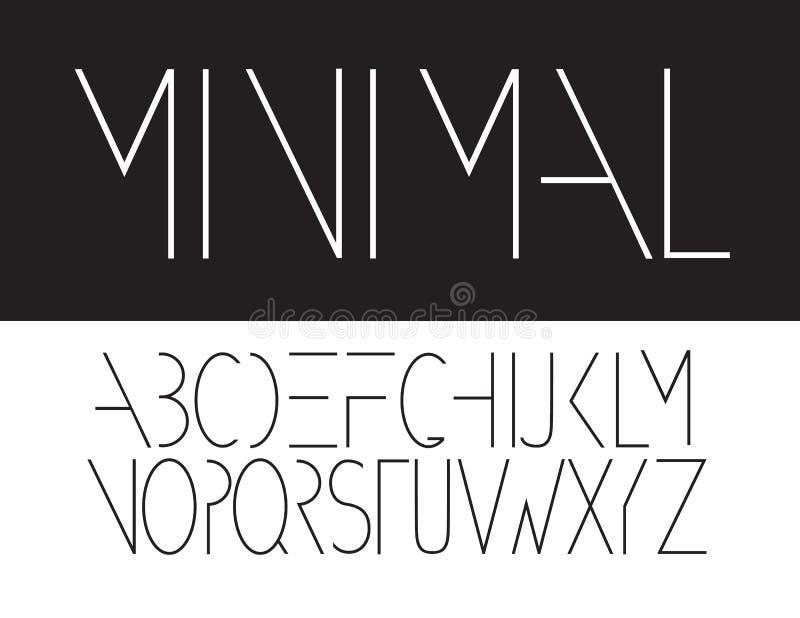 最小的大写字体标志象 向量例证