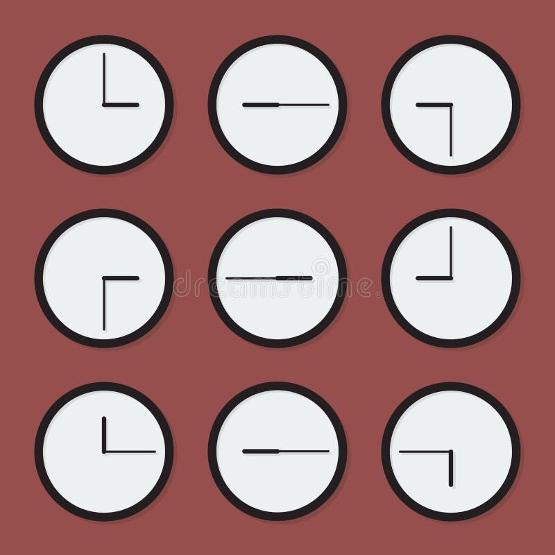 最小的时钟 库存例证