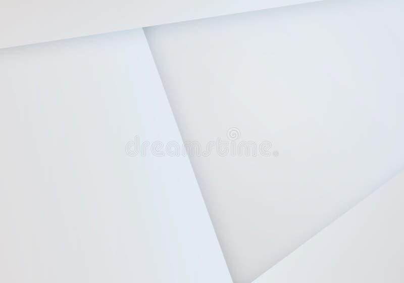 最小的白皮书背景 传染媒介几何空白Bg 皇族释放例证
