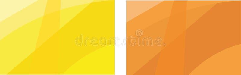 最小的盖子 海报设计的传染媒介橙色几何抽象线样式 设置企业小册子的最小的盖子 第2 PR 库存例证
