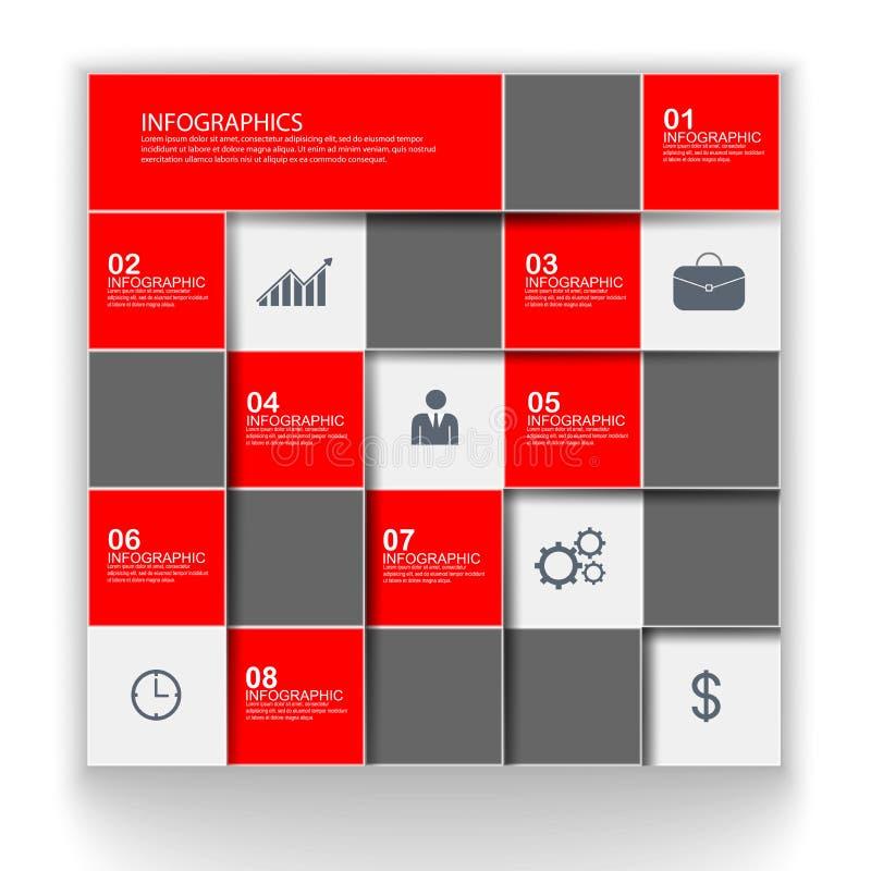 最小的infographic模板 皇族释放例证