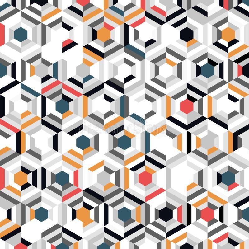 最小装饰背景的抽象六边形图案设计 插图矢量图eps10 皇族释放例证