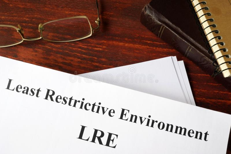 最少限制性环境LRE 免版税库存图片