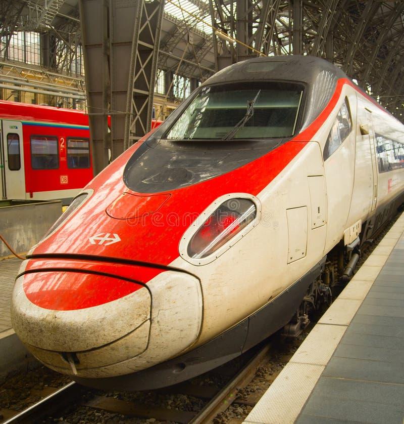 最快速度火车法兰克福德国 免版税库存图片