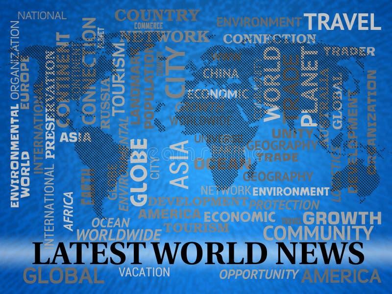 最新的世界日报显示最近国际标题 向量例证