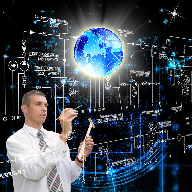 最新的互联网技术。网络安全 免版税库存图片