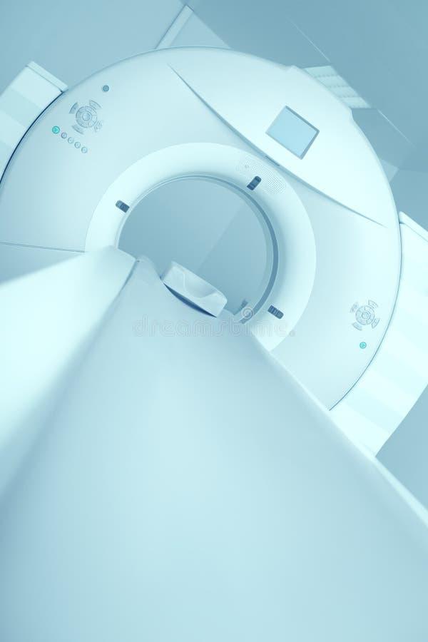 最新的CT, MRI扫描器在一家现代医院 免版税库存图片