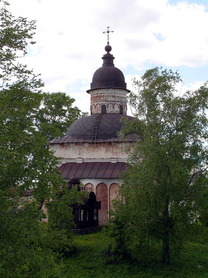 最旧教会kirillov 库存图片