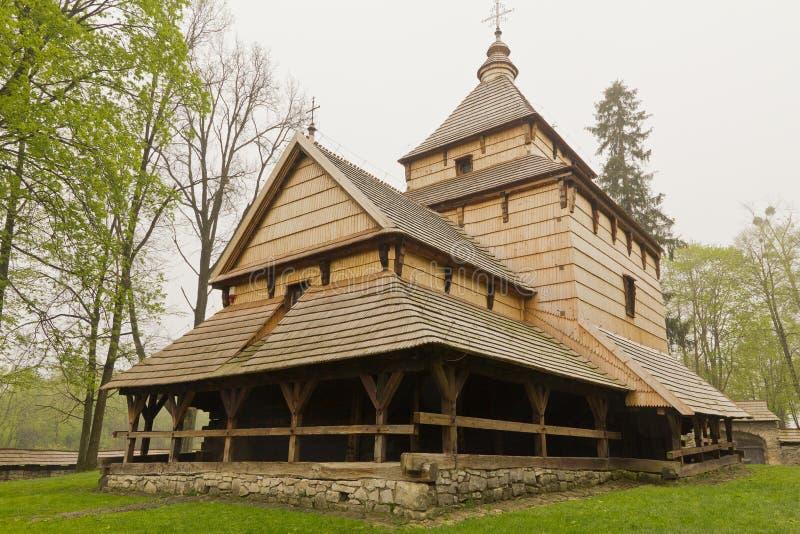 最旧的东正教教会建筑学在radruz的波兰从16世纪 免版税库存照片