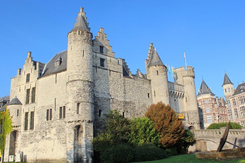 最旧的房子在安特卫普,比利时 免版税库存照片