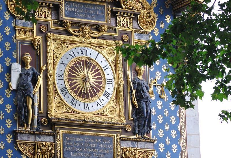巴黎最旧的时钟 库存图片