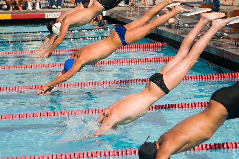 最终游泳 免版税库存照片