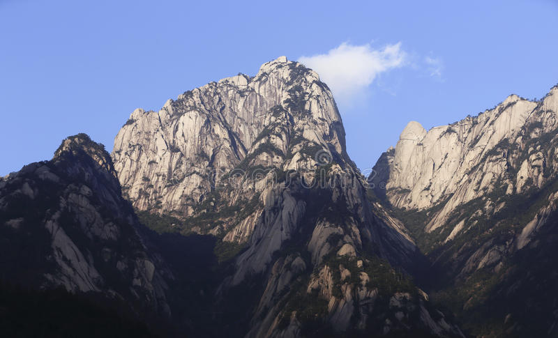 最美丽的山,黄山在中国 免版税库存图片