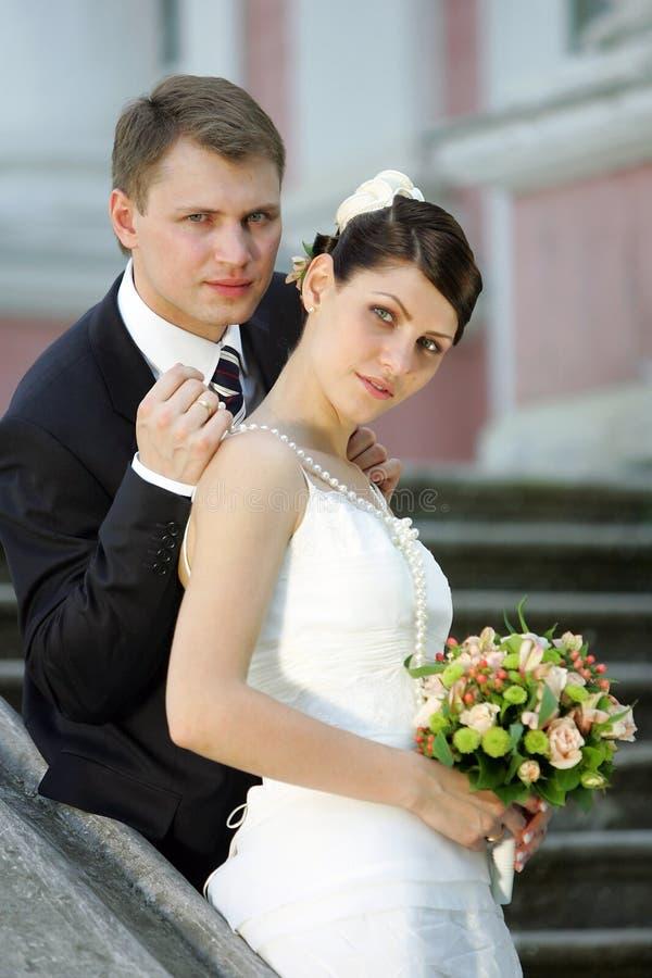 最近已婚夫妇 库存照片