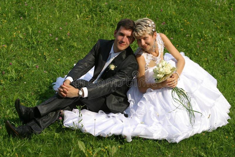 最近结婚的夫妇 图库摄影