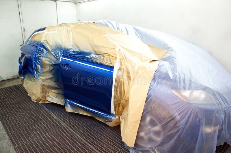 最近被绘的汽车 库存图片