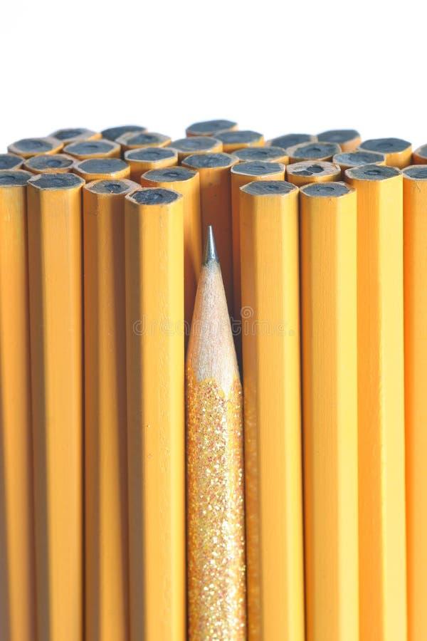 最锋利束的铅笔 库存照片
