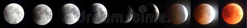 最长的月球Eclipes -红色月亮2018年 免版税图库摄影