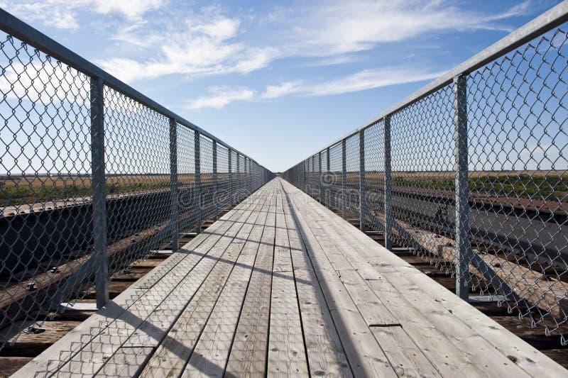 最长的步行桥在加拿大 免版税图库摄影