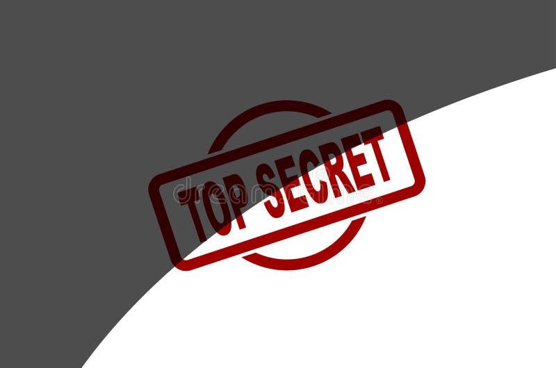 最高机密的一半报道的墨水邮票 皇族释放例证