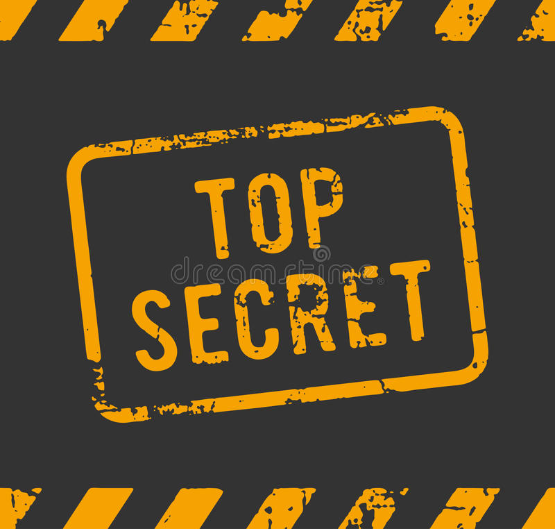 最高机密的不加考虑表赞同的人 库存例证
