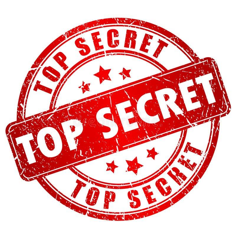 最高机密的传染媒介邮票 库存例证