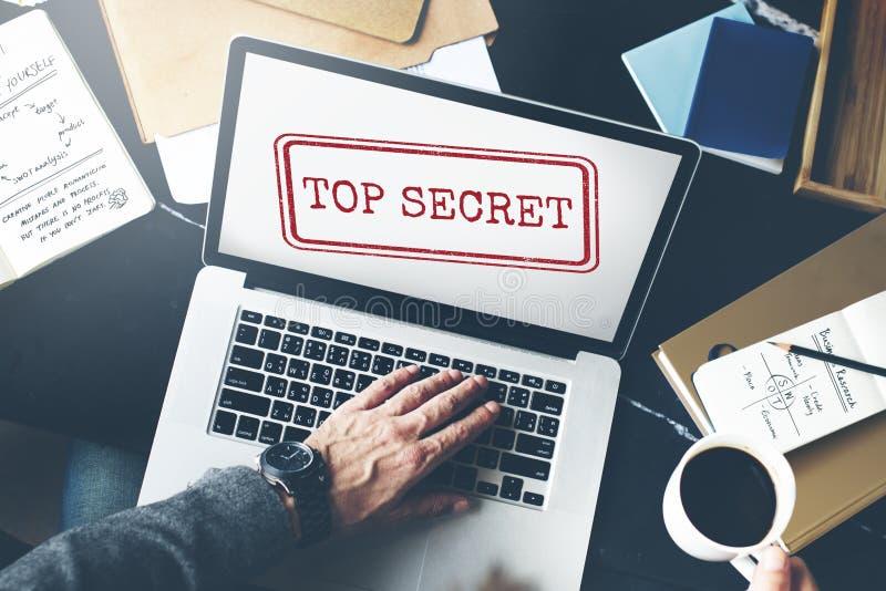 最高机密的保密性机要被分类的邮票概念 库存图片