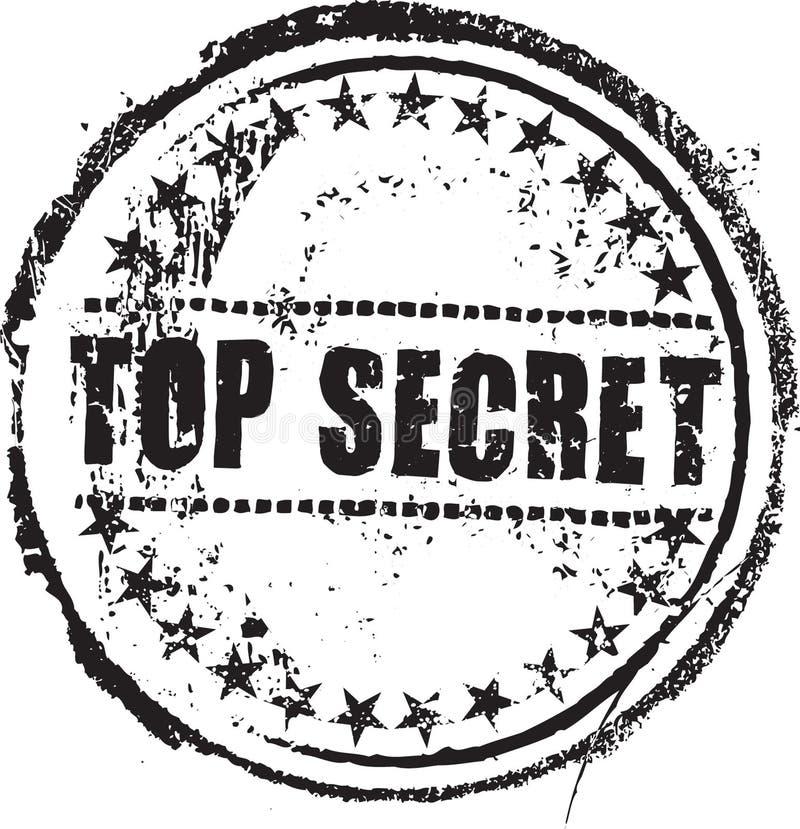 最高机密的印花税 向量例证