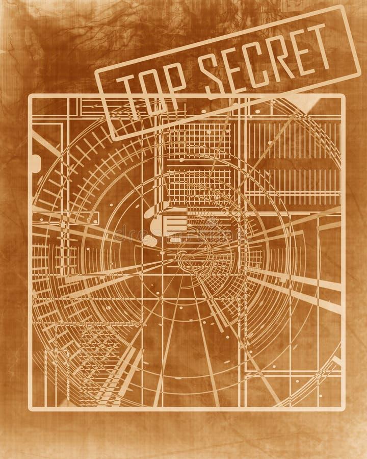 最高机密的图纸 皇族释放例证