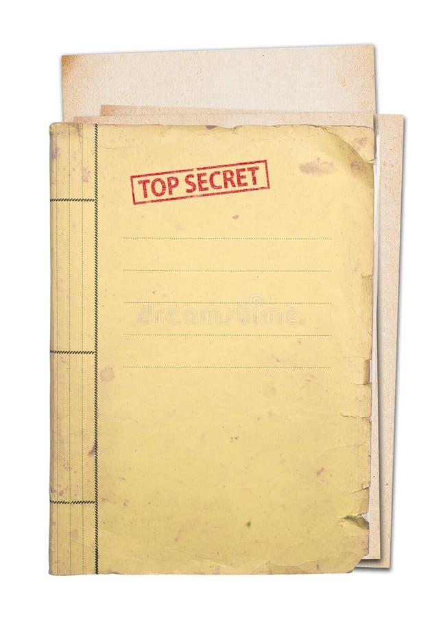 最高机密的文件夹。 免版税库存照片
