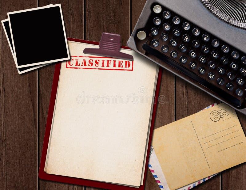 最高机密的文件 库存照片