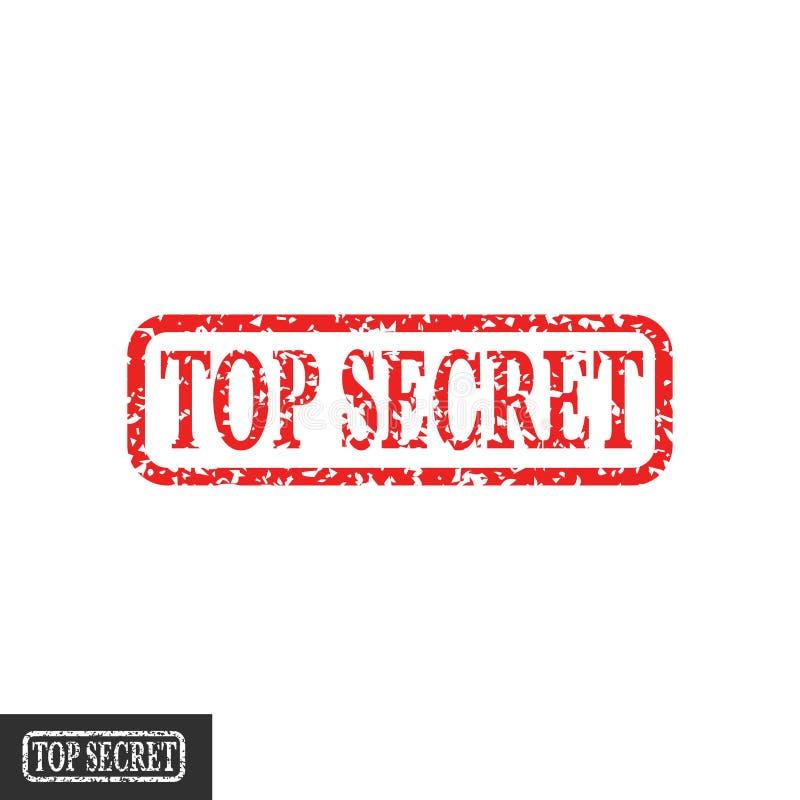 最高机密的邮票传染媒介标志,机要封印标志脏的减速火箭的设计隔绝了clipart 向量例证