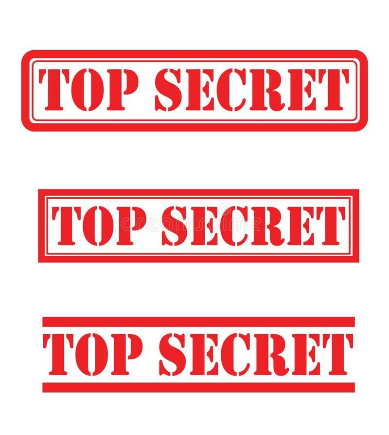最高机密的集合 库存图片