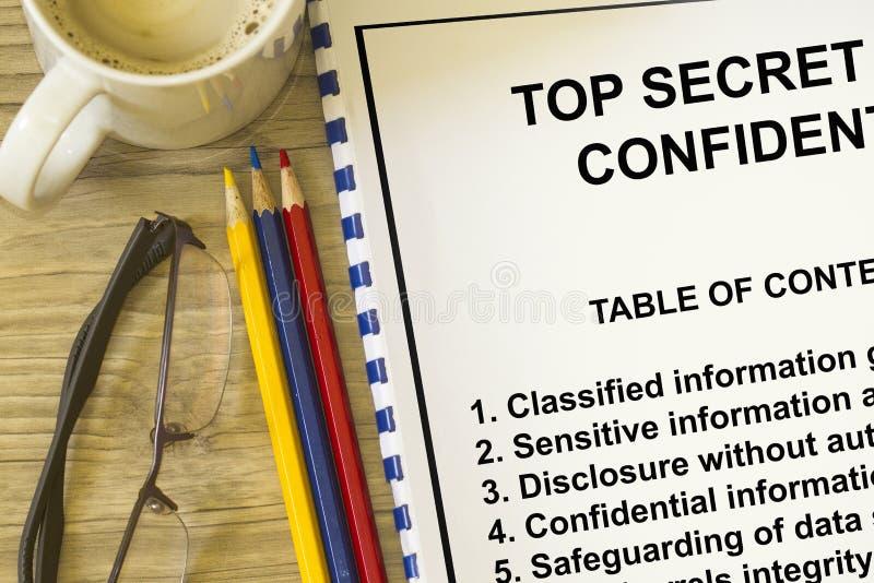 最高机密 库存图片