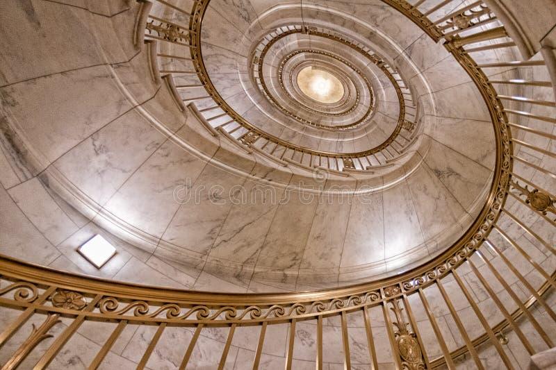 最高法院内部楼梯细节关闭 免版税库存图片