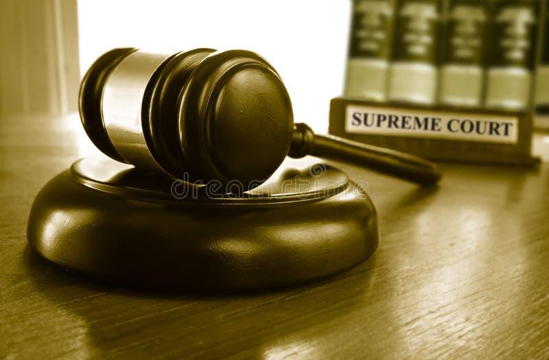 最高法院惊堂木 免版税库存照片