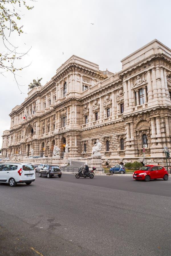 最高法院的外视图在罗马,意大利 免版税库存照片