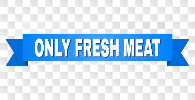 最高荣誉与唯一的新鲜的肉标题 向量例证