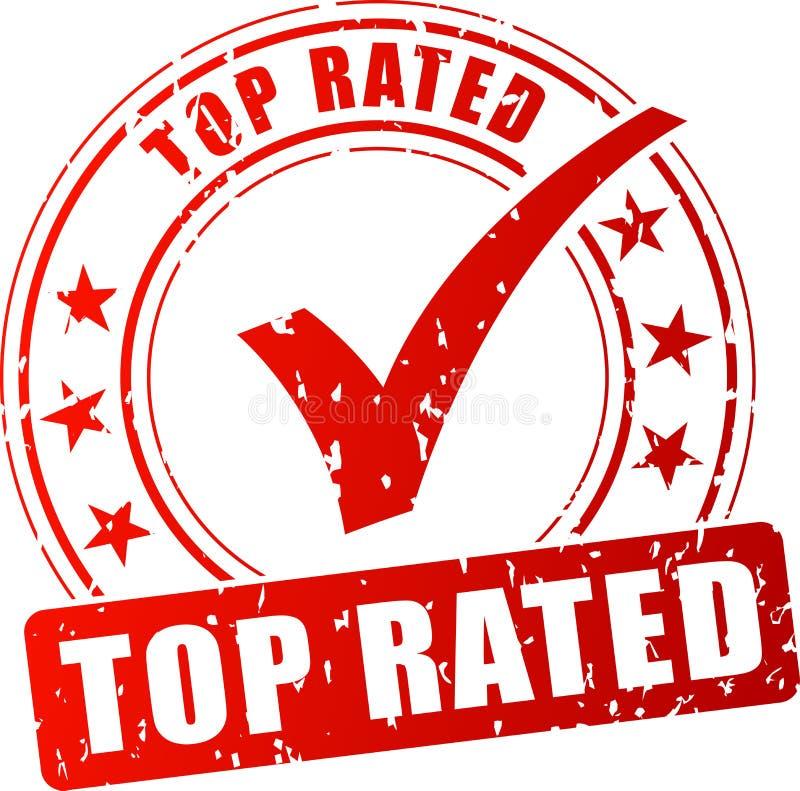 最高评价的红色邮票 向量例证