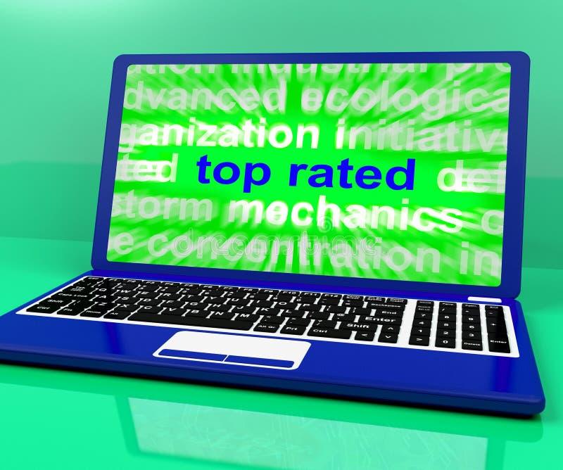 最高评价的膝上型计算机显示最好茂盛的产品 向量例证