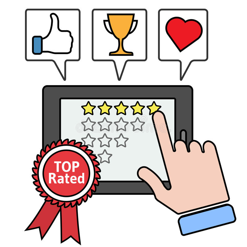 最高评价的App概念传染媒介例证 皇族释放例证