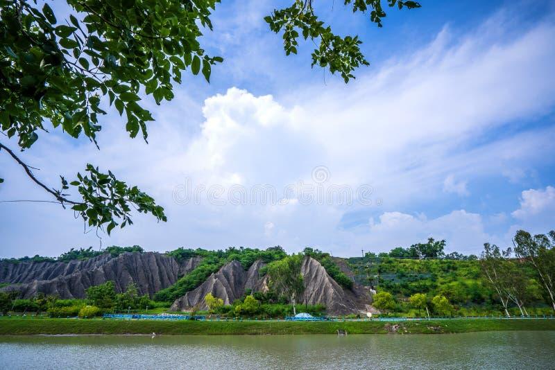 月亮世界休闲公园在高雄 库存照片