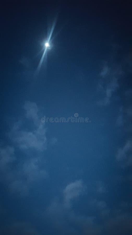 月亮亮光 免版税库存照片