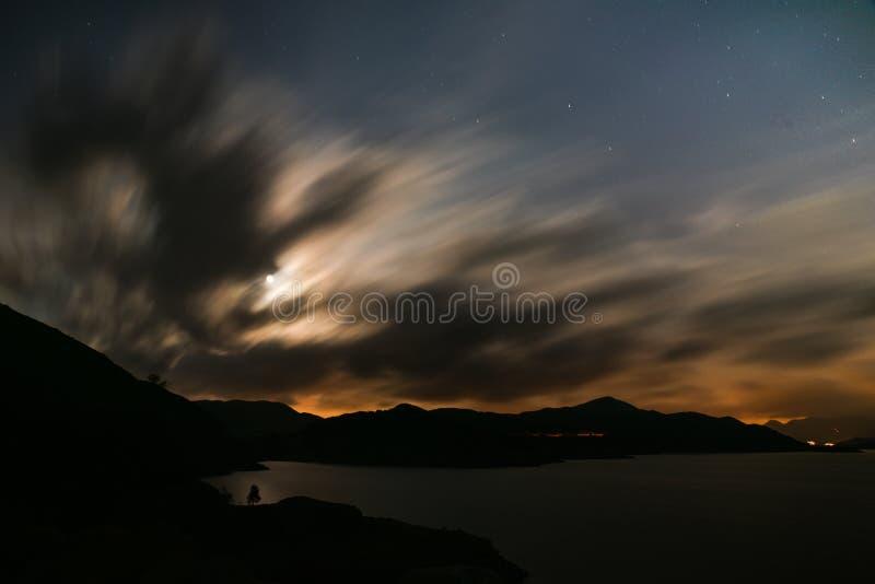 月亮亮光 免版税库存图片