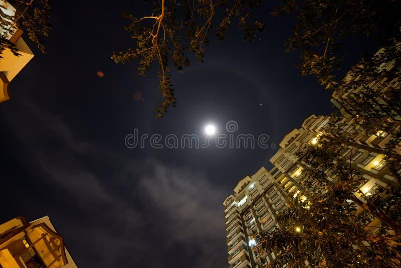 月亮光晕 库存图片
