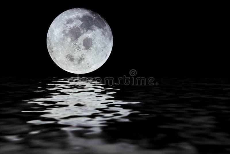 月亮反映 库存例证