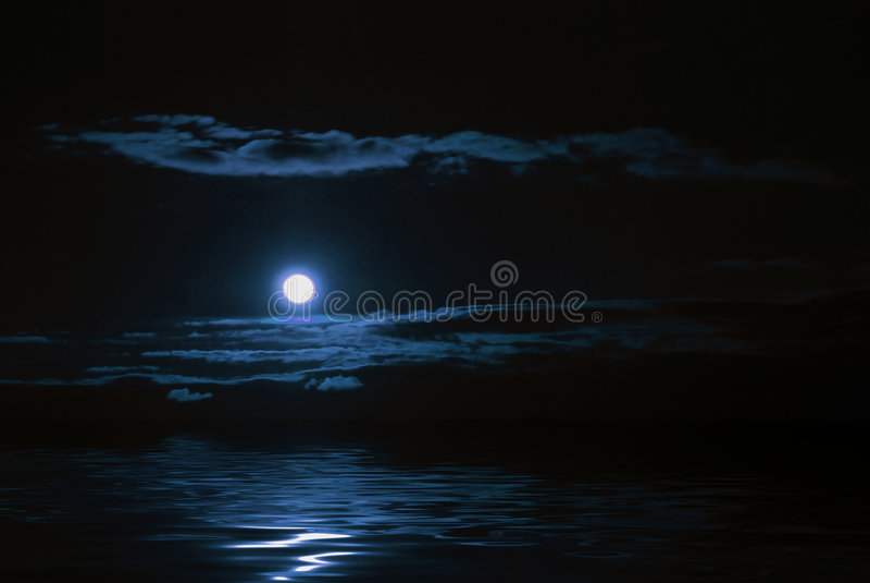 月亮反映 免版税库存图片