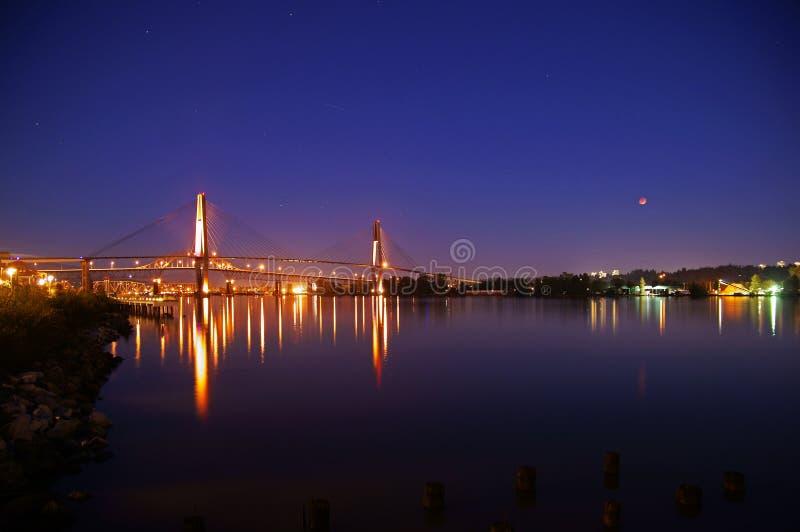 月亮和河 图库摄影